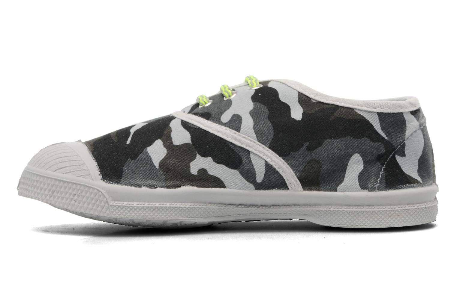 Trainers Bensimon Tennis Camofluo E Grey front view