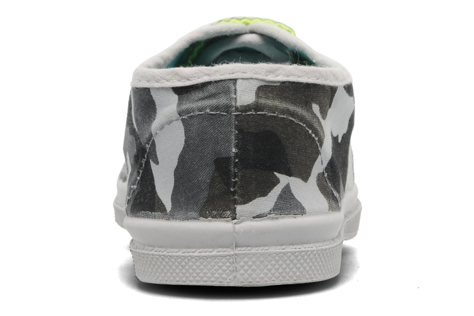 Trainers Bensimon Tennis Camofluo E Grey view from the right