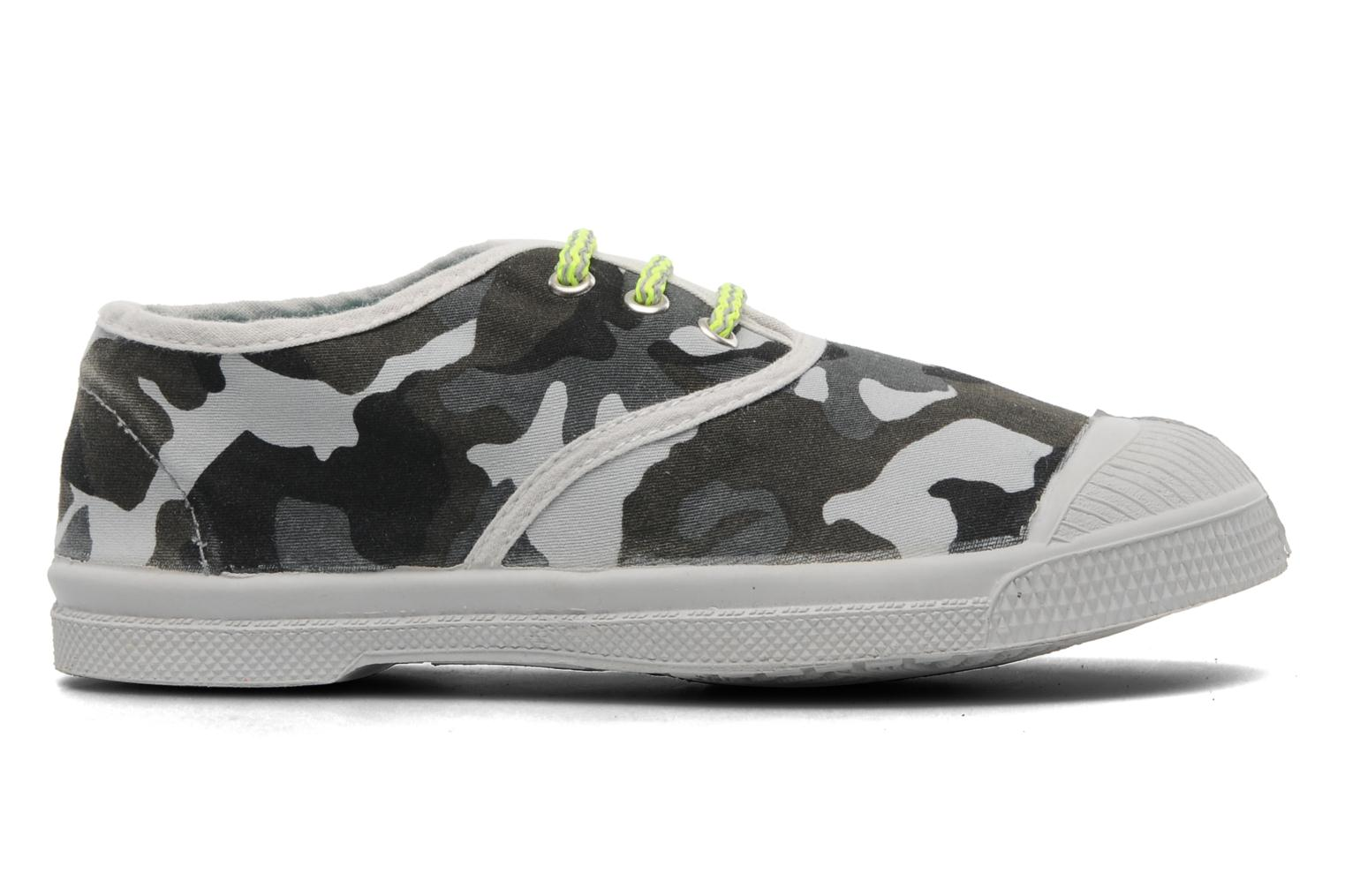 Trainers Bensimon Tennis Camofluo E Grey back view