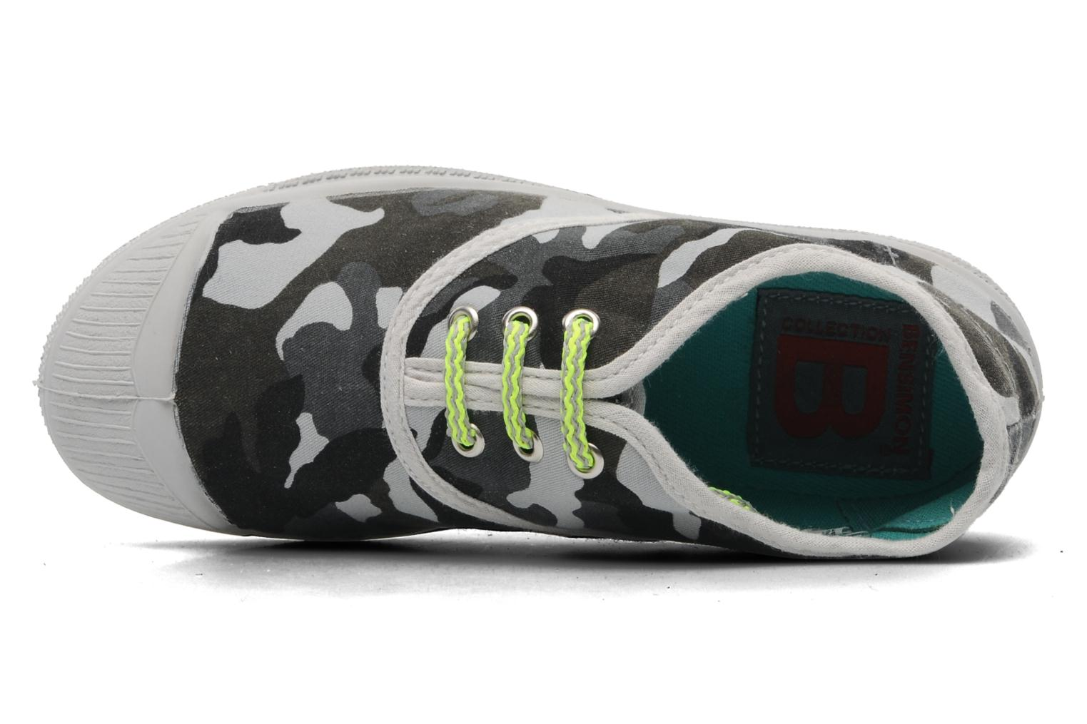 Trainers Bensimon Tennis Camofluo E Grey view from the left