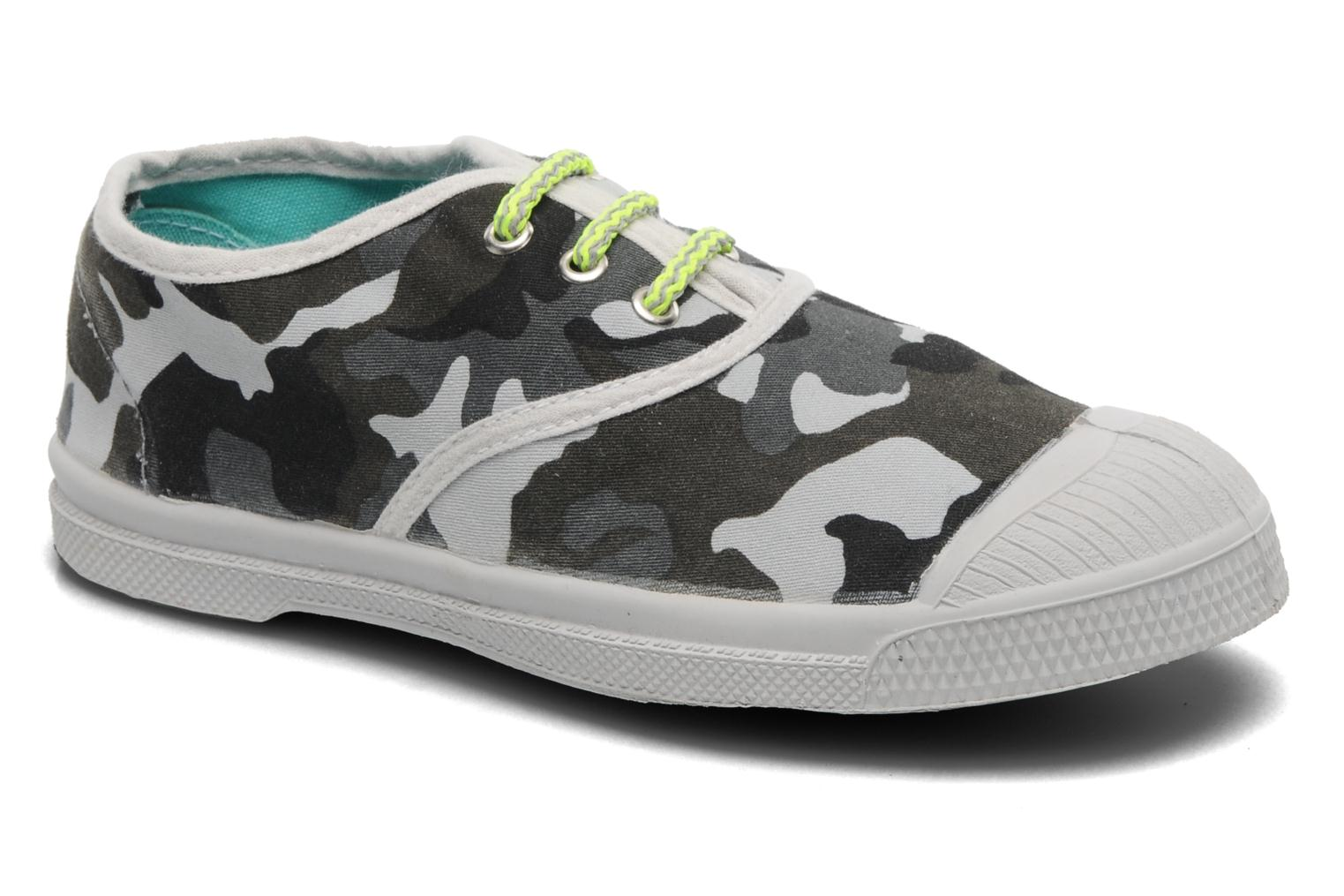 Trainers Bensimon Tennis Camofluo E Grey detailed view/ Pair view