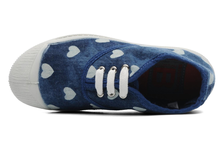Baskets Bensimon Tennis Bleachylove E Bleu vue gauche