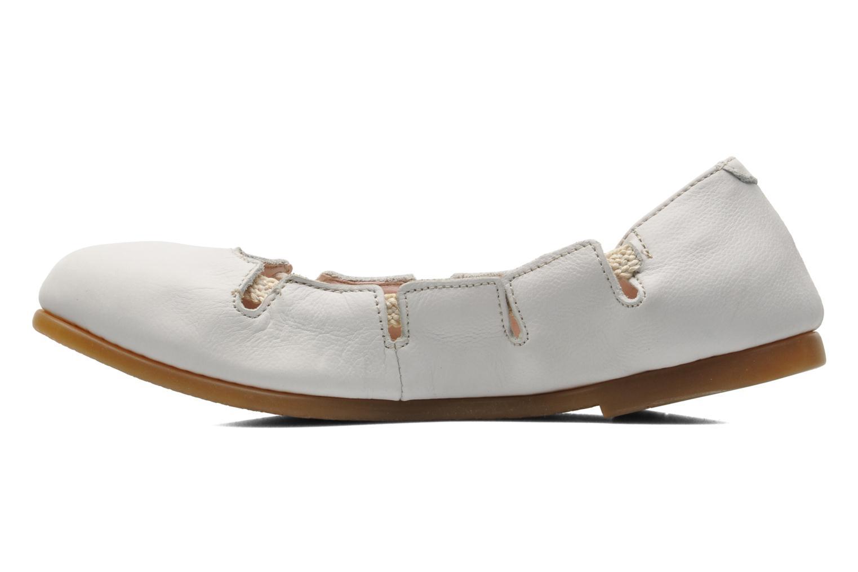 Ballerina's El Naturalista Croche N961 Wit voorkant