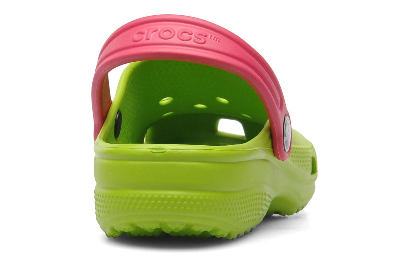 Sandales et nu-pieds Crocs Classic Kids Power Pack Vert vue droite