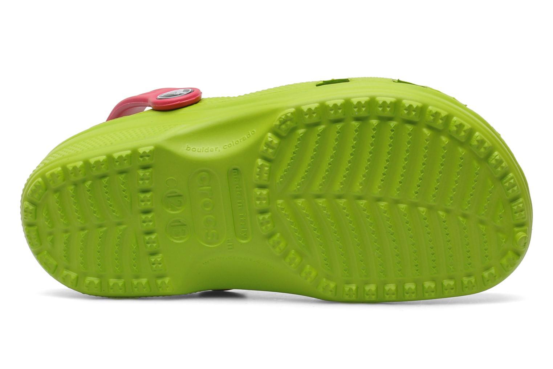 Sandales et nu-pieds Crocs Classic Kids Power Pack Vert vue haut