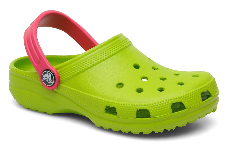 Sandales et nu-pieds Crocs Classic Kids Power Pack Vert vue détail/paire