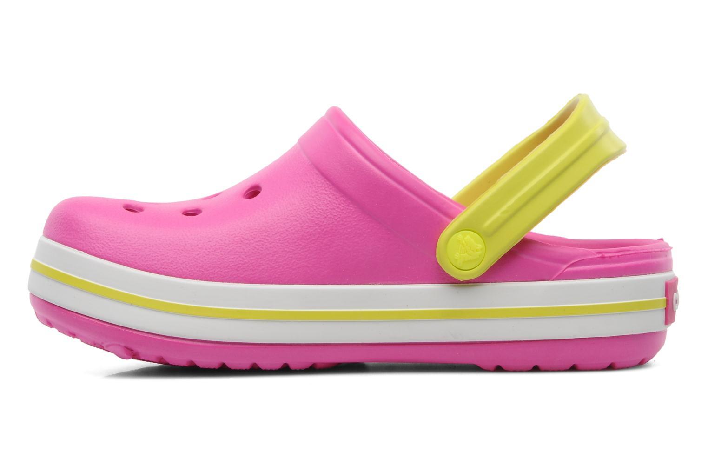 Sandales et nu-pieds Crocs Crocband Kids Power Pack Rose vue face