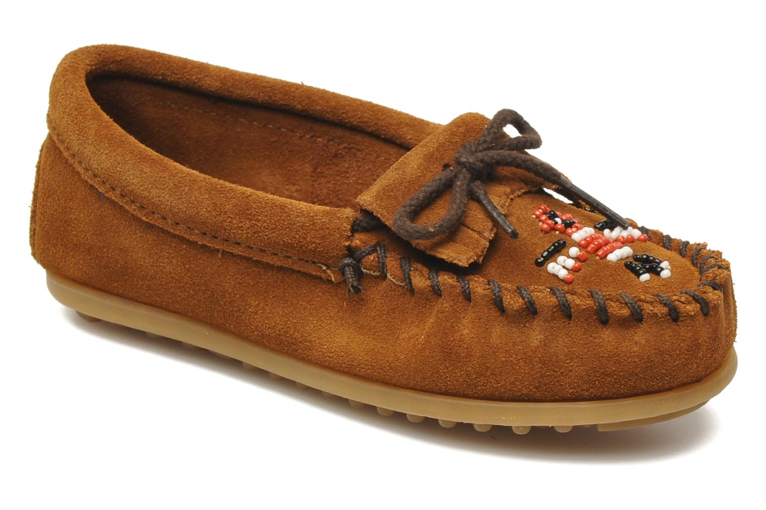 Loafers Minnetonka Thunderbird II Moc G Brown detailed view/ Pair view