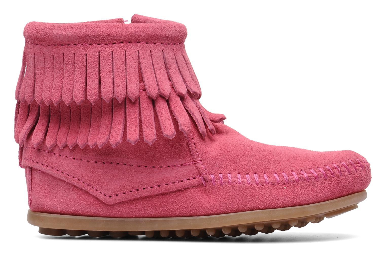 Stiefeletten & Boots Minnetonka Double Fringe bootie G rosa ansicht von hinten