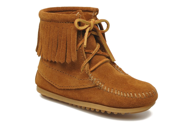 Boots en enkellaarsjes Minnetonka Tramper Bootie G Bruin detail
