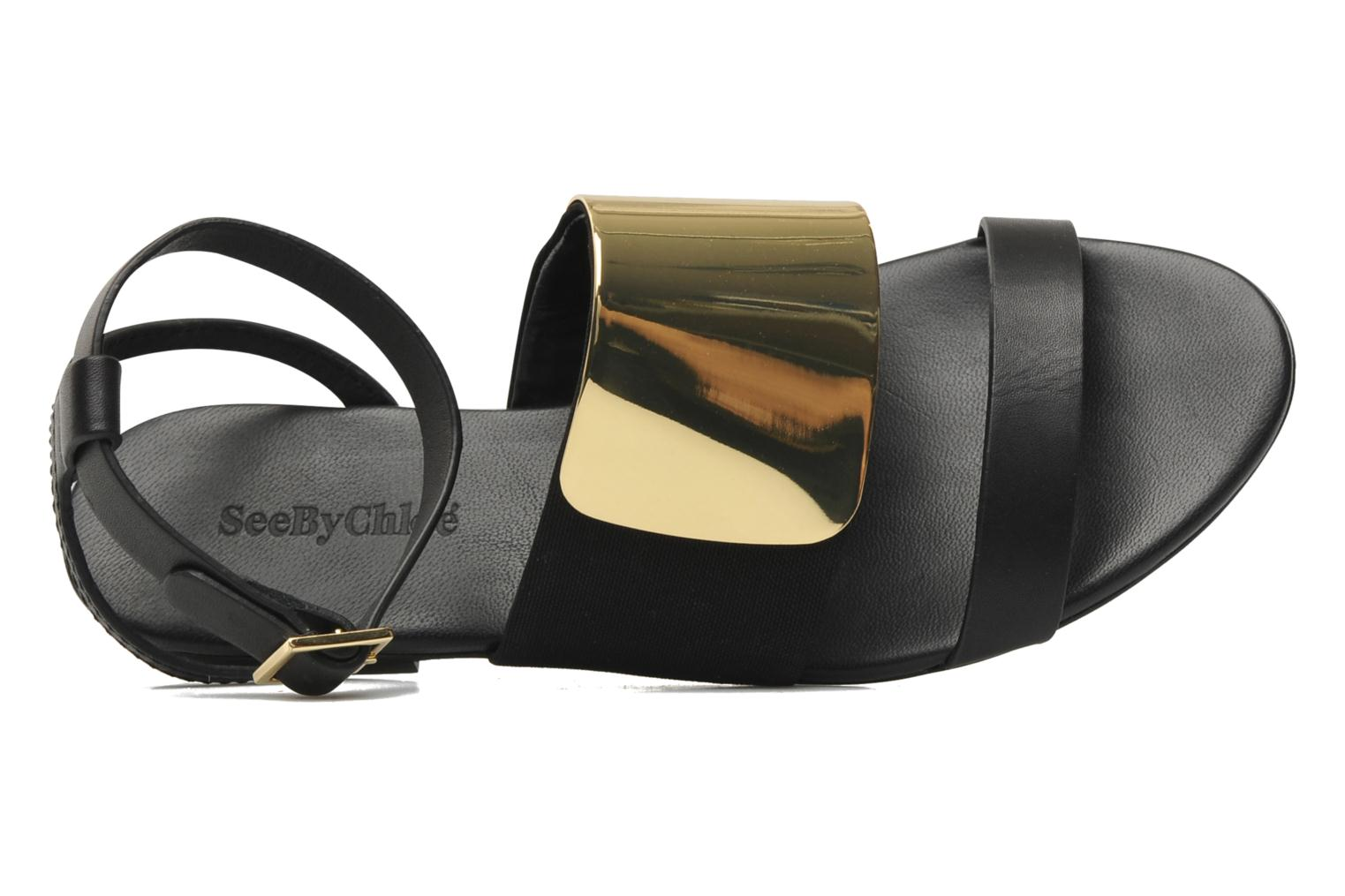 Sandals See by Chloé June Black view from the left