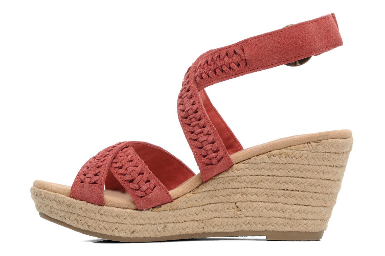 Sandales et nu-pieds Minnetonka Haley Rouge vue face