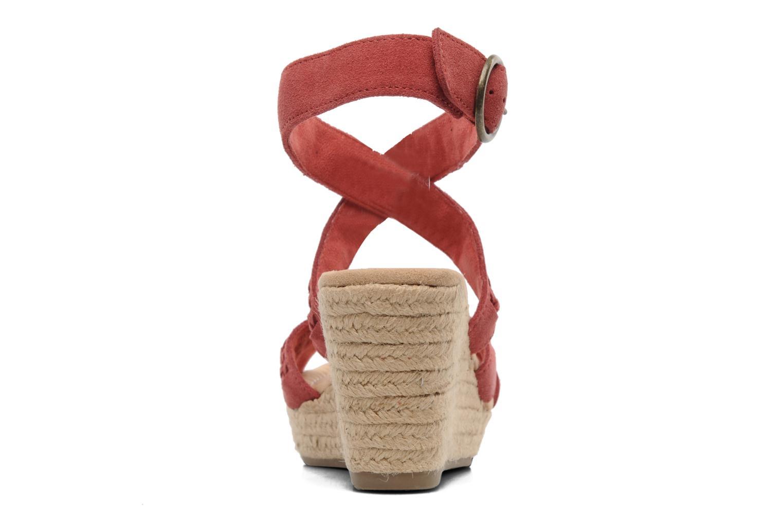 Sandales et nu-pieds Minnetonka Haley Rouge vue droite