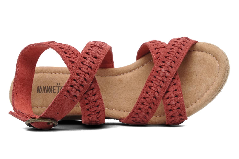 Sandaler Minnetonka Haley Rød se fra venstre