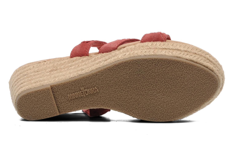 Sandales et nu-pieds Minnetonka Haley Rouge vue haut