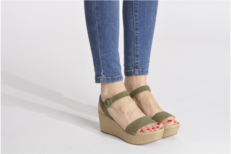 Sandales et nu-pieds Unisa Kito Noir vue bas / vue portée sac