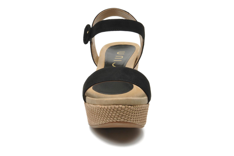 Sandales et nu-pieds Unisa Kito Noir vue portées chaussures