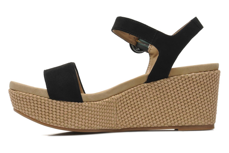 Sandales et nu-pieds Unisa Kito Noir vue face