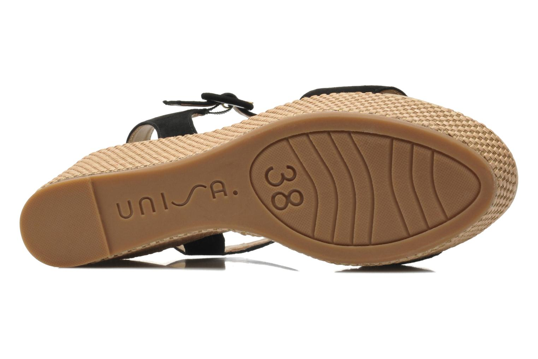 Sandales et nu-pieds Unisa Kito Noir vue haut