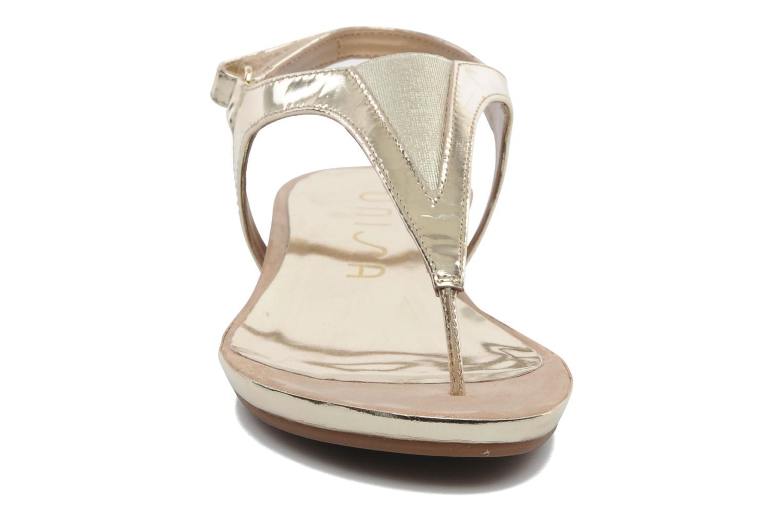 Sandals Unisa Abira Bronze and Gold model view
