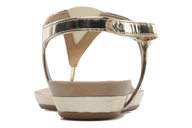 Sandales et nu-pieds Unisa Abira Or et bronze vue droite