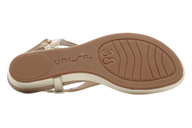 Sandales et nu-pieds Unisa Abira Or et bronze vue haut