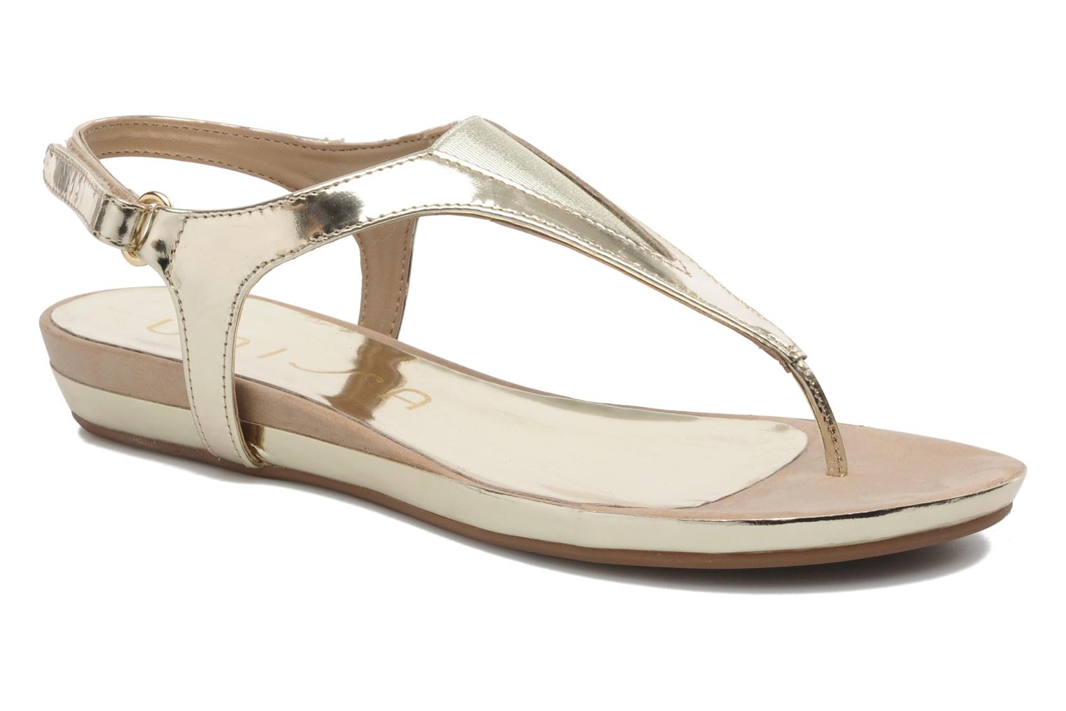Sandals Unisa Abira Bronze and Gold detailed view/ Pair view