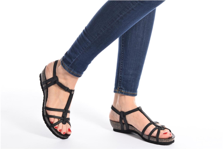 Sandals Panama Jack Dori Black view from underneath / model view