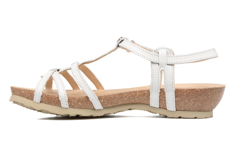 Sandalen Panama Jack Dori weiß ansicht von vorne