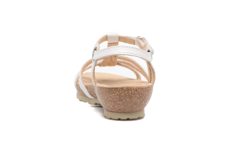 Sandalen Panama Jack Dori weiß ansicht von rechts