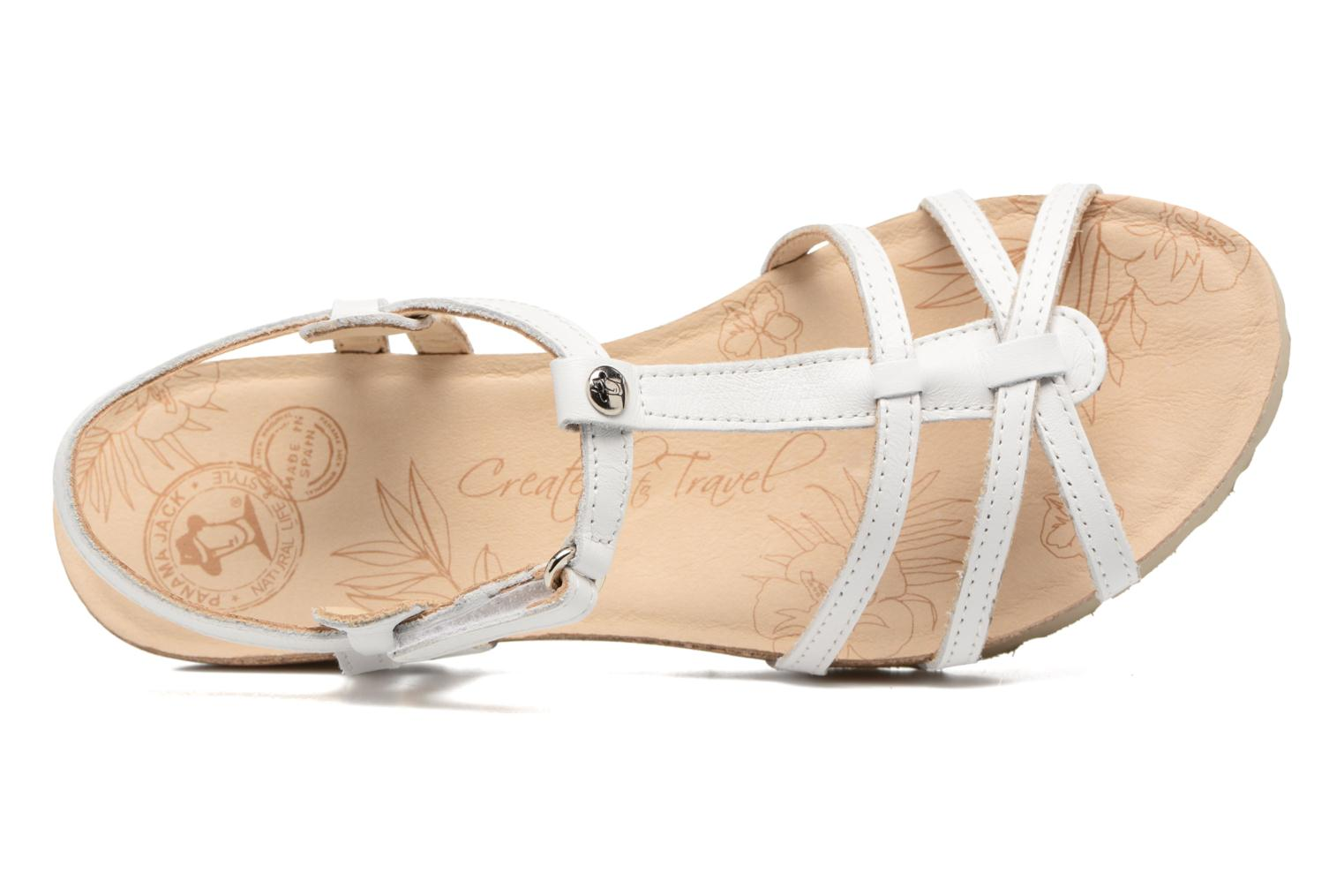 Sandals Panama Jack Dori White view from the left