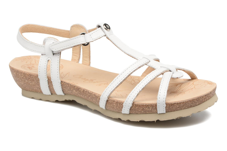 Sandals Panama Jack Dori White detailed view/ Pair view