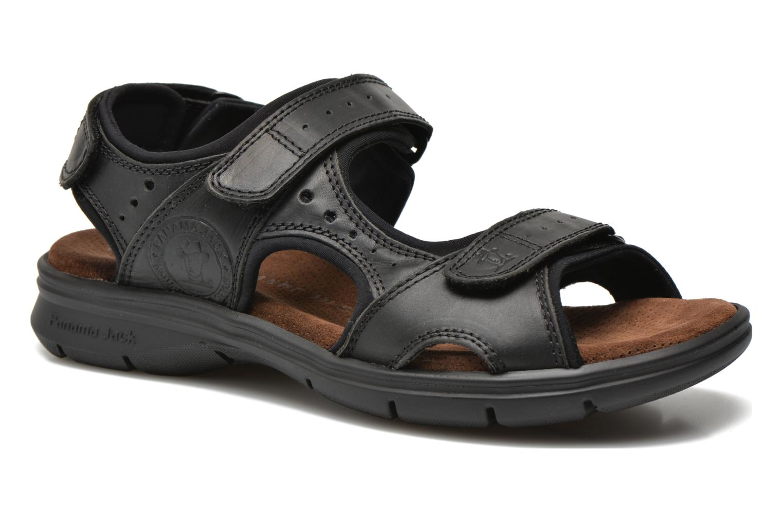 Sandalen Panama Jack Salton Zwart detail
