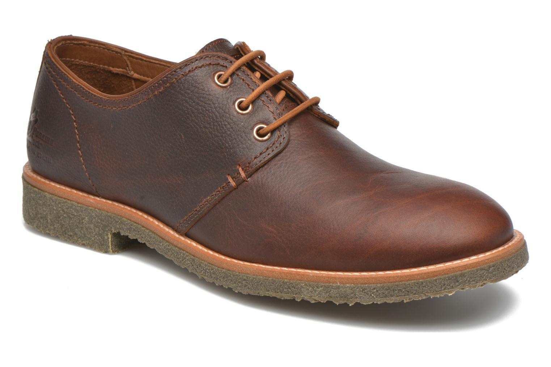 Chaussures à lacets Panama Jack Goodman Marron vue détail/paire