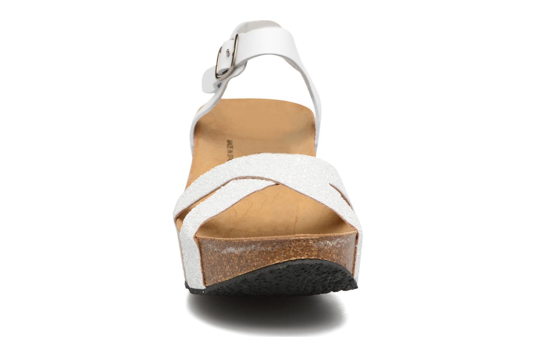 Sandales et nu-pieds Plakton So fine Blanc vue portées chaussures