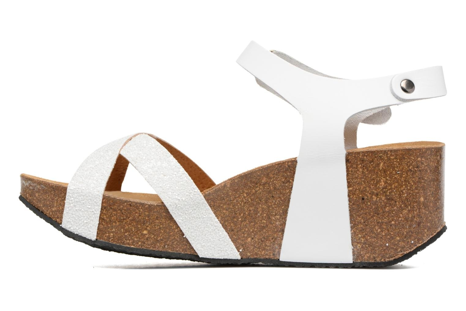 Sandals Plakton So fine White front view