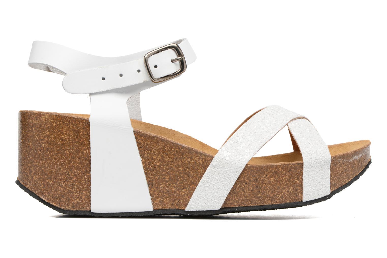Sandales et nu-pieds Plakton So fine Blanc vue derrière