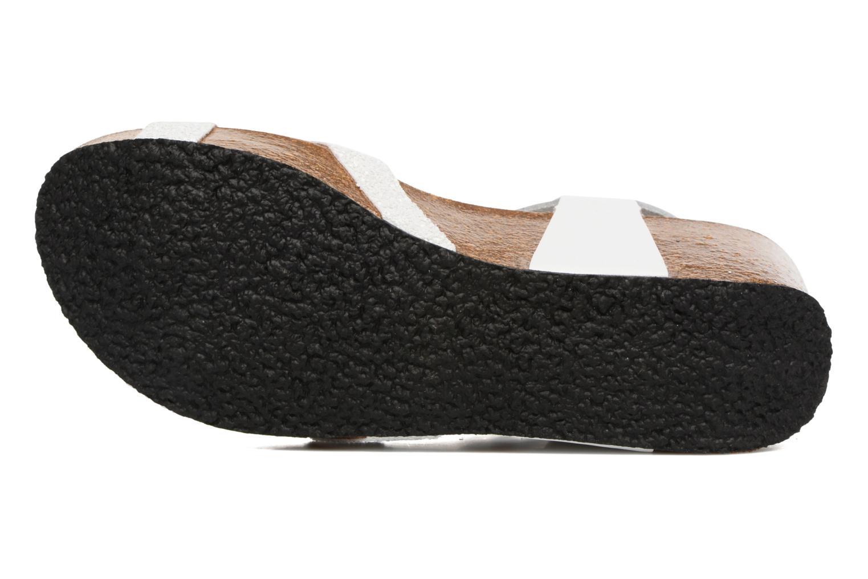 Sandales et nu-pieds Plakton So fine Blanc vue haut