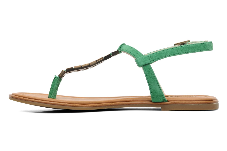 Sandals Buffalo Bawa Green front view