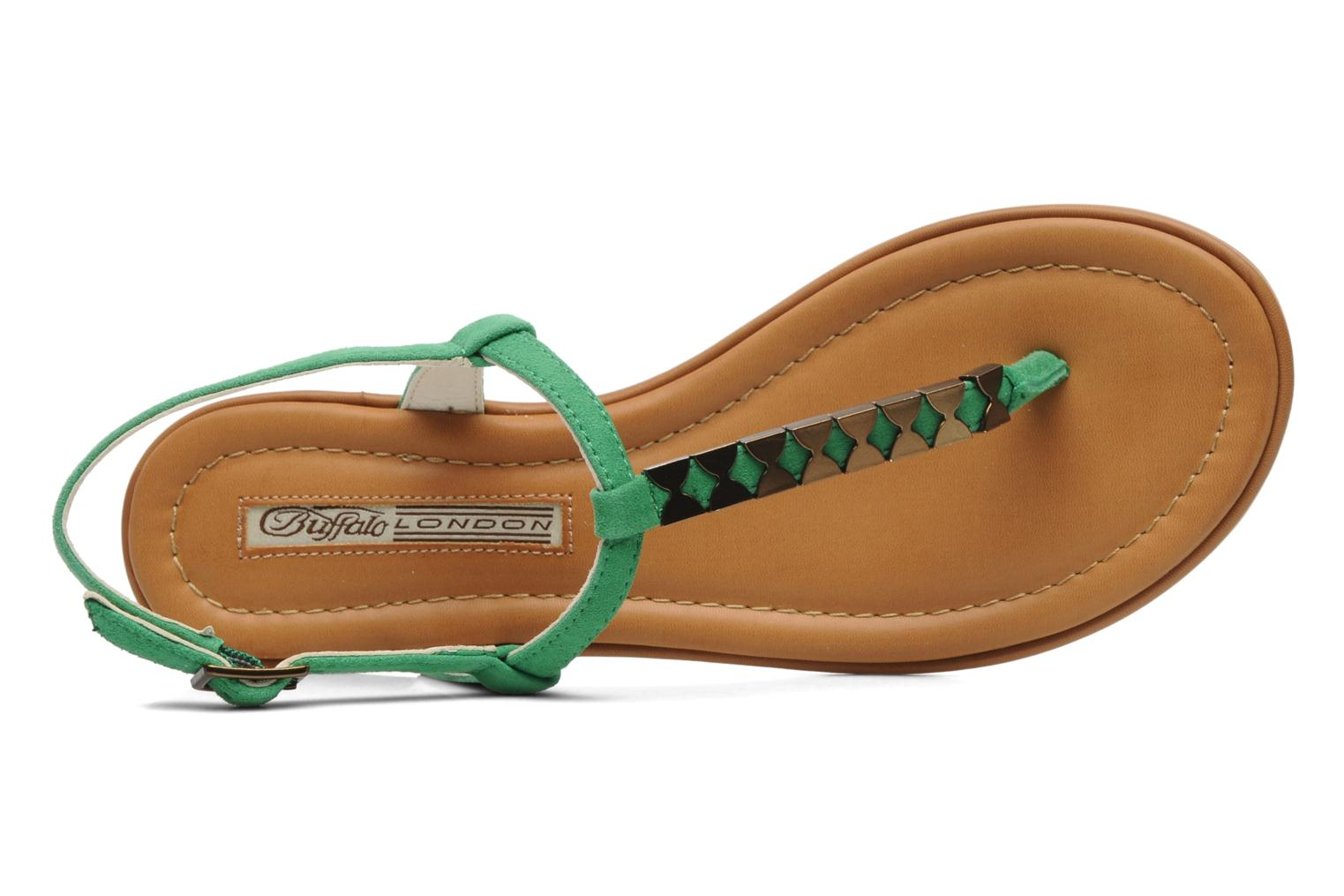 Sandals Buffalo Bawa Green view from the left