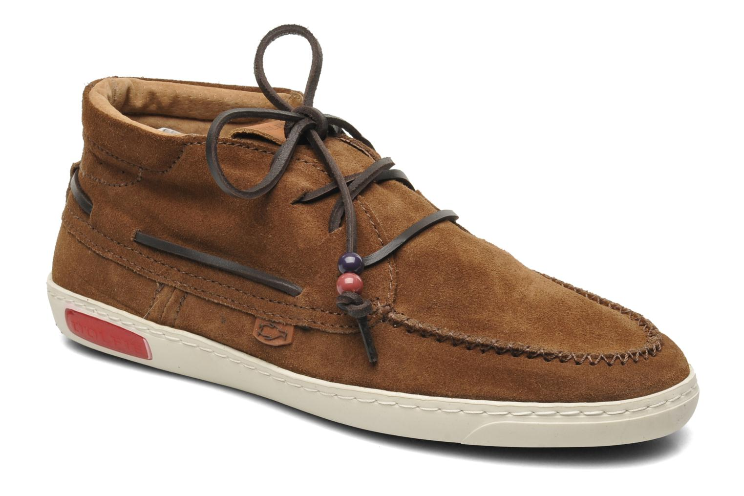 Landom Hi M Brown Suede
