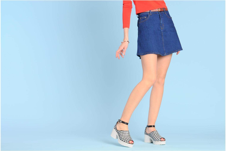 Sandalen Shellys London MISH weiß ansicht von unten / tasche getragen