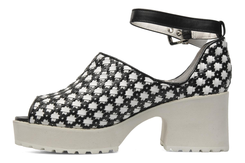 Sandales et nu-pieds Shellys London MISH Blanc vue face