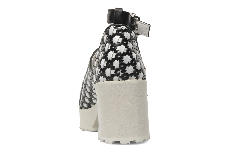 MISH Black/White woven pu