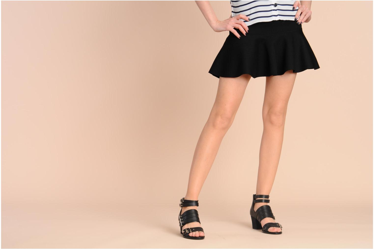 Sandals Shellys London VALVORI Black view from underneath / model view