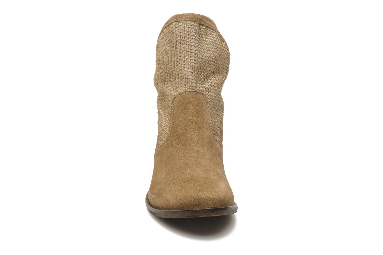 Bottines et boots Méliné Chanvre Beige vue portées chaussures