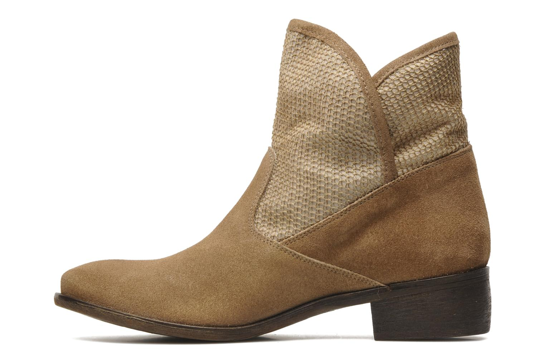 Bottines et boots Méliné Chanvre Beige vue face