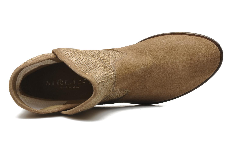 Stiefeletten & Boots Méliné Chanvre beige ansicht von links