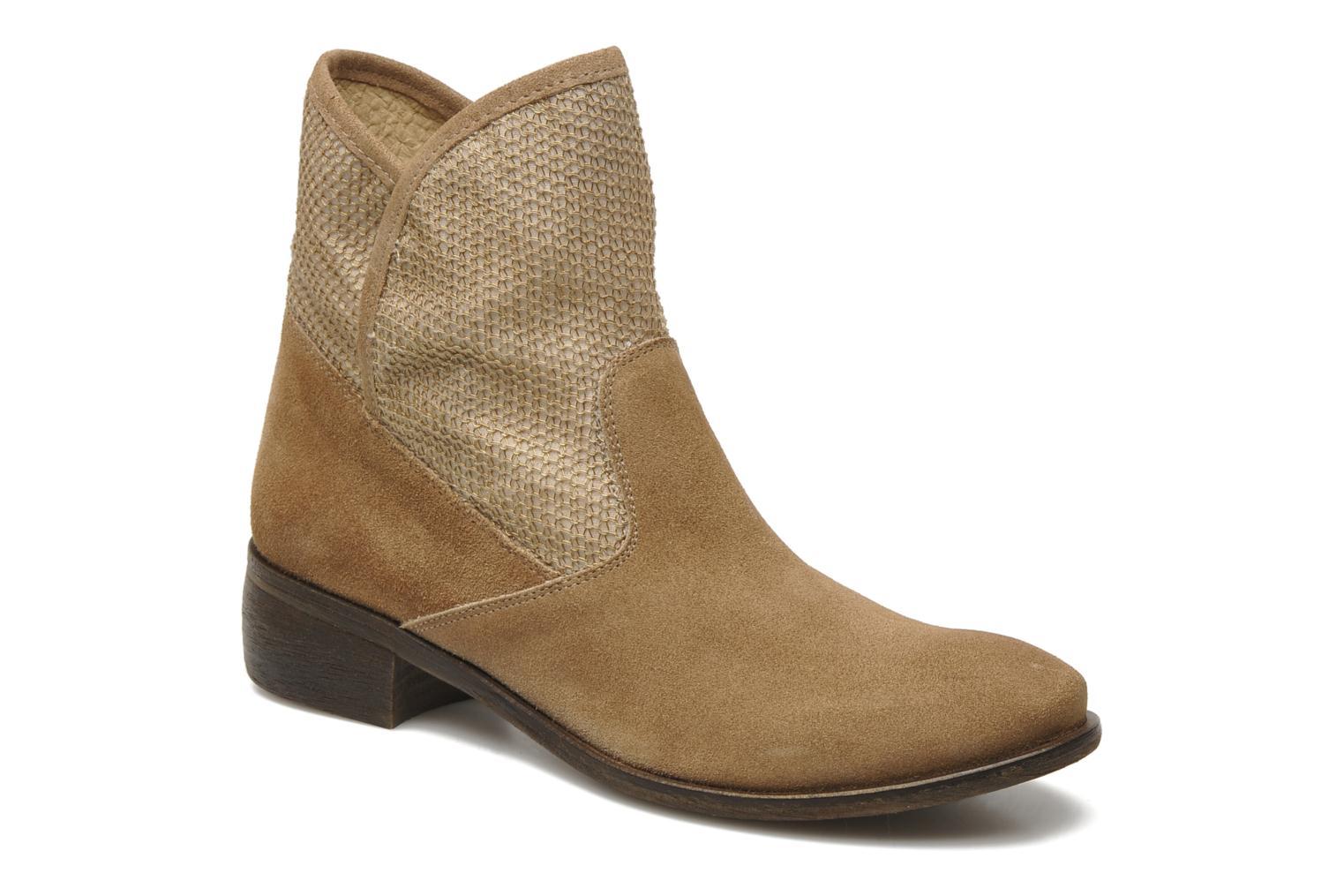 Bottines et boots Méliné Chanvre Beige vue détail/paire