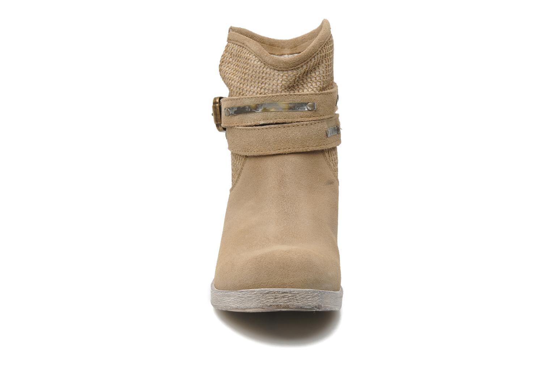 Bottines et boots Méliné Jute Beige vue portées chaussures